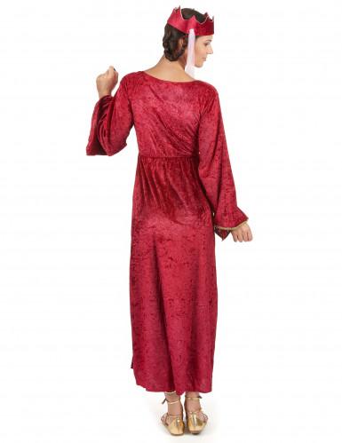 Disfraz medieval de reina para mujer-2
