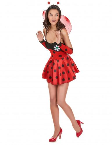 Disfraz de mariquita sexy para mujer con flor-1