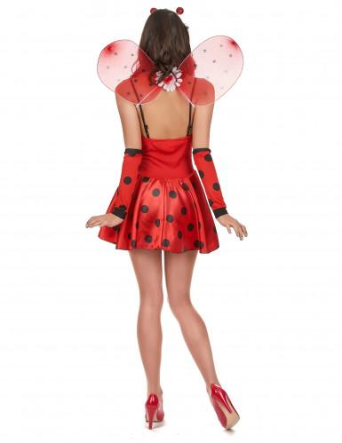 Disfraz de mariquita sexy para mujer con flor-2