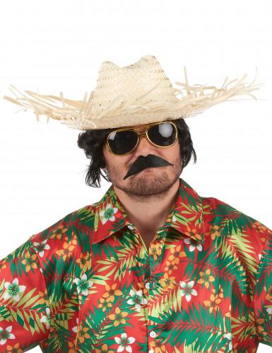 Sombrero hawaiano de paja adulto-1
