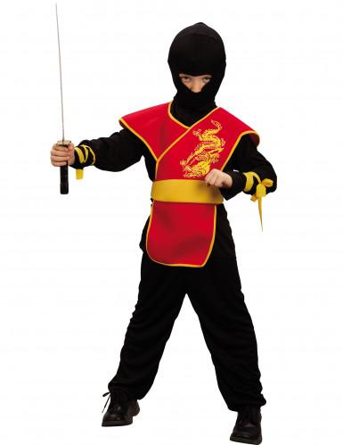 Disfraz ninja rojo dragón niño