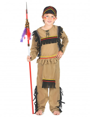 Disfraz de indio para niño flecos negros