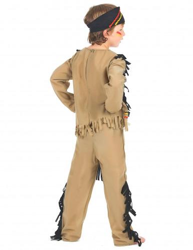 Disfraz de indio para niño flecos negros-2