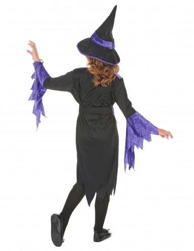 Disfraz violeta de bruja para niña Halloween-2