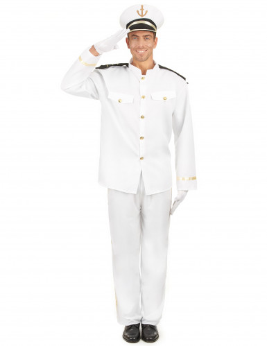 Disfraz de capitán de la marina para hombre