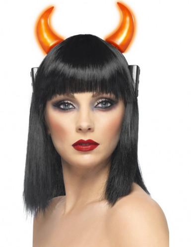 Cuernos luminosos de diablo para adulto ideales para Halloween