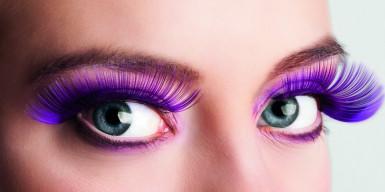 Pestañas postizas violetas para mujer