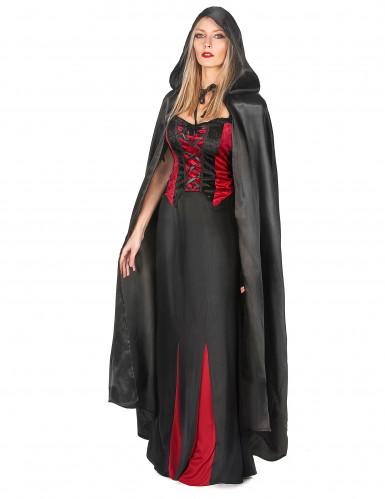 Capa de Vampirella negra para mujer ideal para Halloween-1
