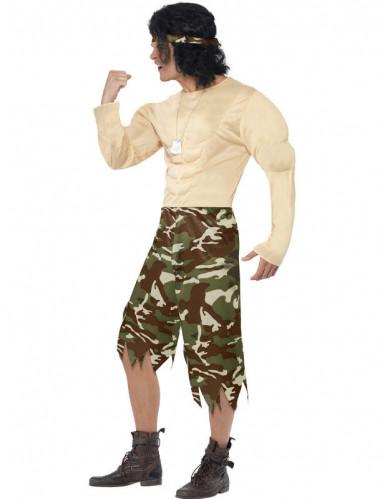 Disfraz de supersoldado muscoloso para hombre-1