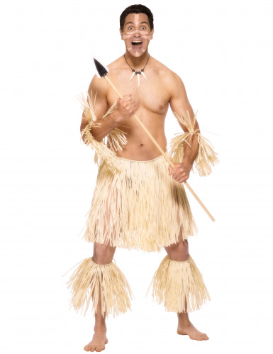 Disfraz de guerrero zulú para hombre