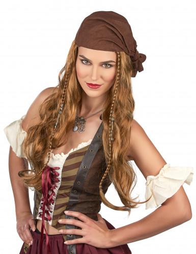 Peluca de Jack el pirata para hombre-1