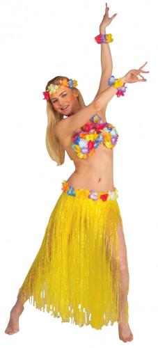 Set hawaiano amarillo para mujer