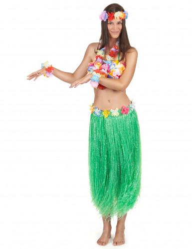 Set hawaiano verde para mujer