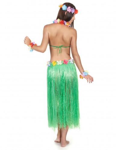 Set hawaiano verde para mujer-2