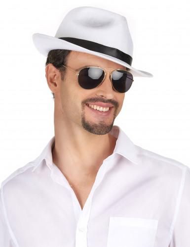 Sombrero blanco de gánster adulto-1
