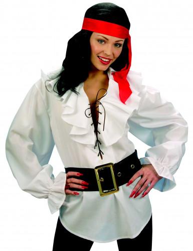 Camisa blanca de pirata para adulto