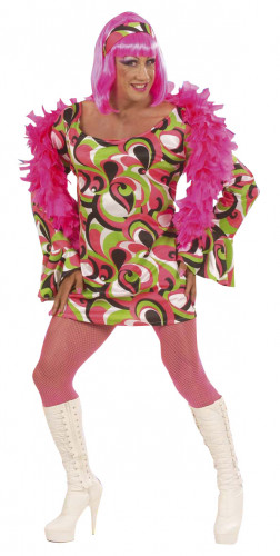 Disfraz de drag queen estilo disco años 70 para hombre