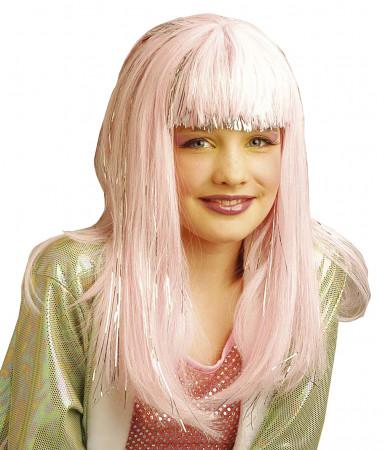Peluca rosa de Dana para niña