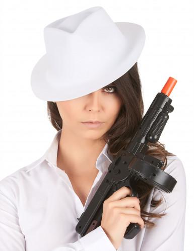 Sombrero blanco de gánster para adulto-1