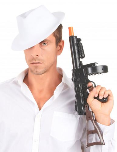 Sombrero blanco de gánster para adulto-2