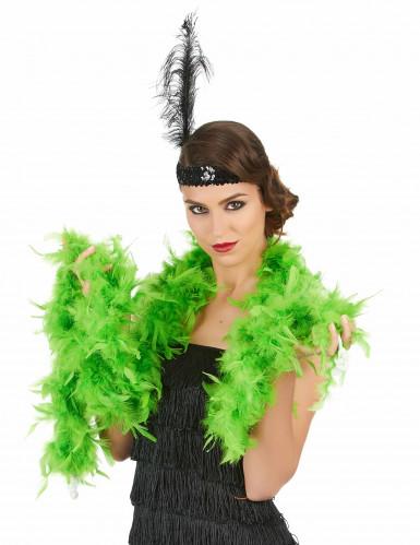Boa verde fluorescente para adulto, ideal para Saint Patrick.-1