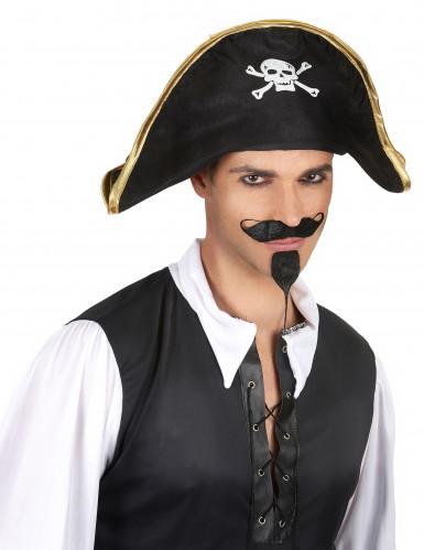 Sombrero de jefe de los piratas para adulto-1