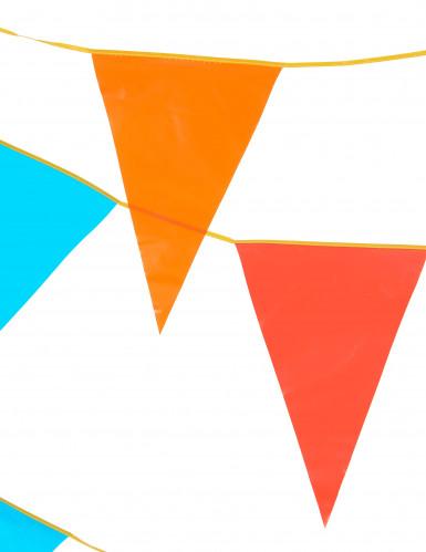 Guirnalda de banderines gigantes de varios colores 10 metros.-1