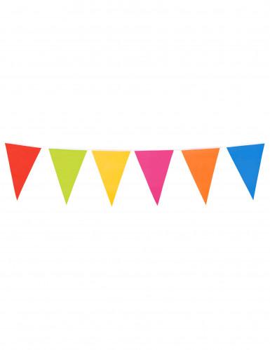 Guirnalda de banderines gigantes de varios colores 10 metros.-2