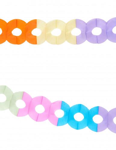 Guirnalda multicolor de papel 2,5 metros-1