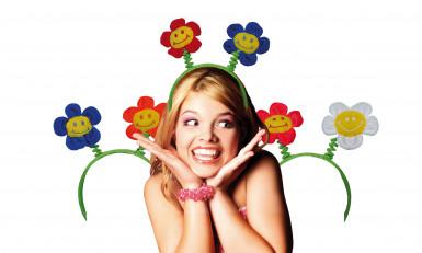 Diadema divertida con flores para adulto