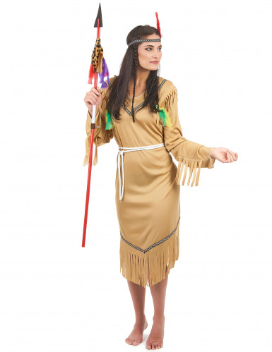 Disfraz de india pálida para mujer