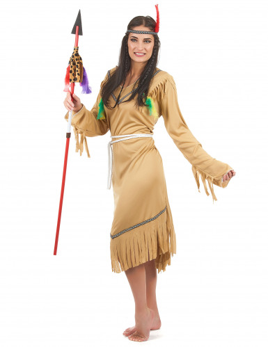Disfraz de india pálida para mujer-1