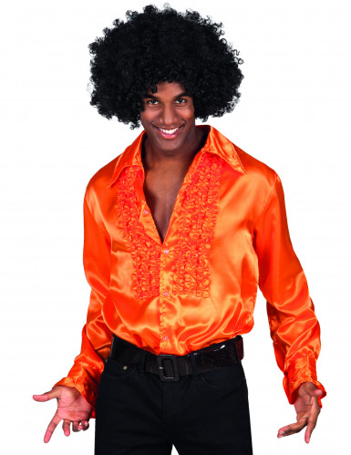 Camisa naranja estilo disco para adulto