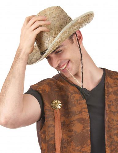 Sombrero de paja Dallas Bull para adulto-1