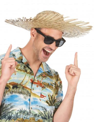 Sombrero hawaiano de paja para adulto-1