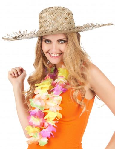 Sombrero hawaiano de paja para adulto-2
