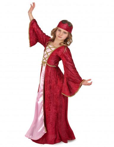 Disfraz de reina medieval para niña-1
