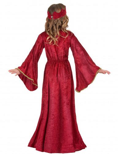 Disfraz de reina medieval para niña-2