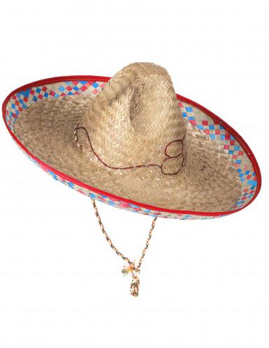 Sombrero mejicano de paja para adulto-2