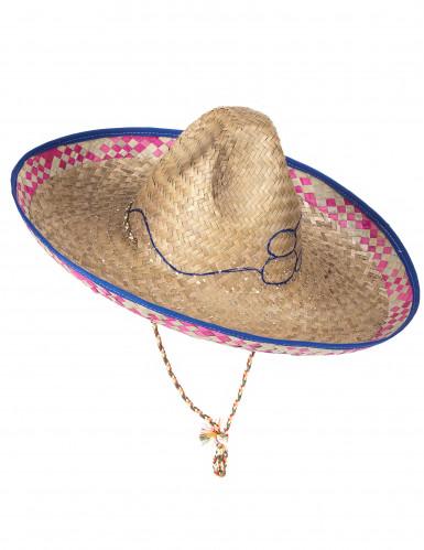 Sombrero mejicano de paja para adulto-4