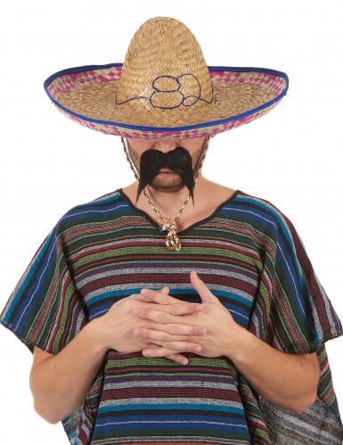 Sombrero mejicano de paja para adulto-5