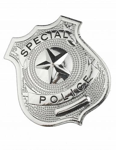 Insignia de policía metal adulto