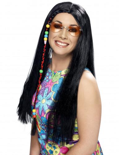 Peluca hippie groovy para mujer