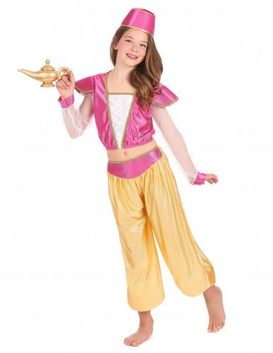 Disfraz de princesa oriental de lujo para niña
