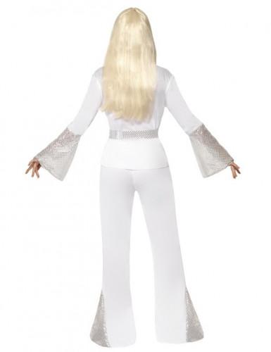 Disfraz disco para mujer blanco y gris-2