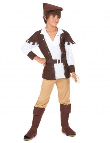 Disfraz de Robin Hood para niño marrón