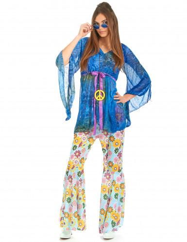 Disfraz de hippie estilo flower power para mujer