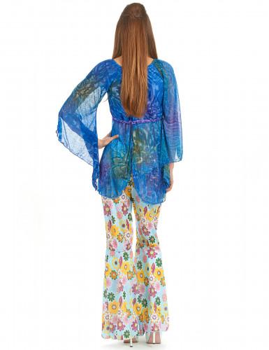 Disfraz de hippie estilo flower power para mujer-1