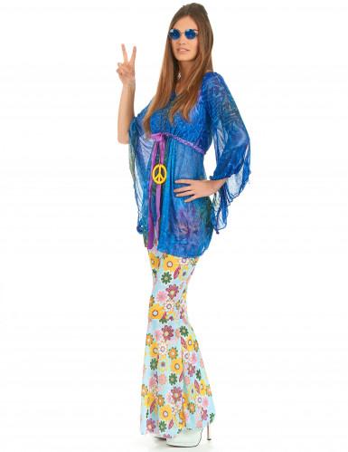 Disfraz de hippie estilo flower power para mujer-2