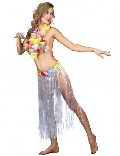 Falda hawaiana para mujer flores-1